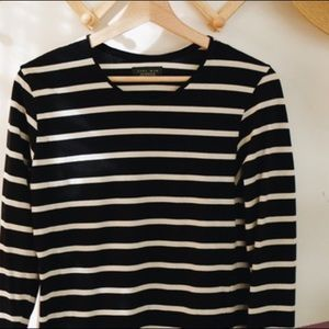 ZARA MAN Long Sleeve Striped T-Shirt | XL